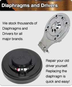 Replacement repair parts diaphragms and drivers