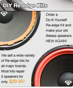 Orange County Speaker Repair Re-Edge Foam Kits